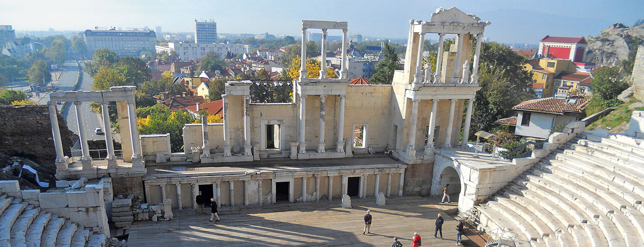 Bulgarien: Amphitheater in Plovdiv