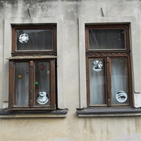 Serbien Fenster in Semlin